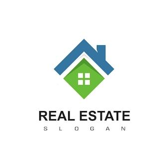 Szablon projektu logo nieruchomości. wektor logo dachowe.