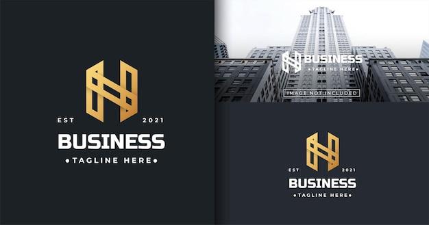 Szablon projektu logo nowoczesnego listu