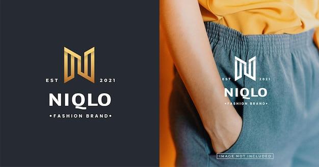 Szablon projektu logo nowoczesny luksusowy list