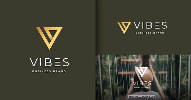 Szablon Projektu Logo Nowoczesny Minimalistyczny List Premium Wektorów