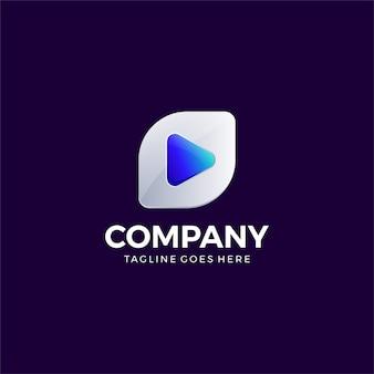 Szablon projektu logo odtwarzania wideo