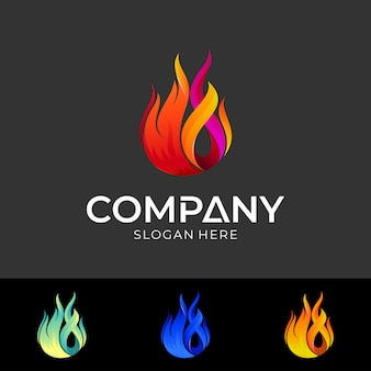 Szablon projektu logo ognia