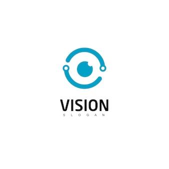Szablon projektu logo oka