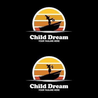 Szablon projektu logo osiągania marzeń