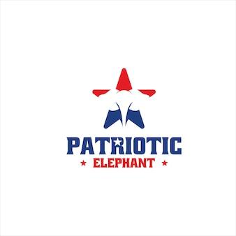 Szablon projektu logo patriotycznego słonia