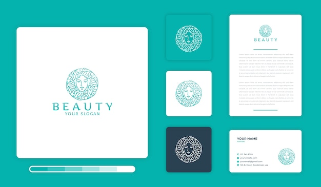 Szablon projektu logo piękna
