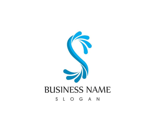 Szablon projektu logo plusk wody s litery