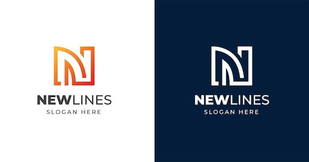 Szablon projektu logo początkowa litera n.