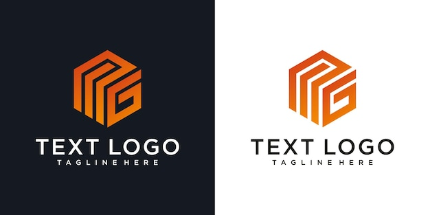 Szablon projektu logo początkowej litery mg