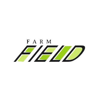Szablon projektu logo pola farmy