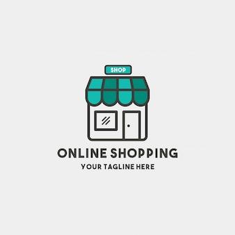 Szablon projektu logo premium zakupy online