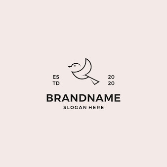 Szablon projektu logo prosty ptak