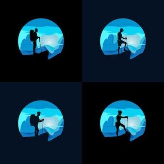 Szablon projektu logo przygody wędrówki