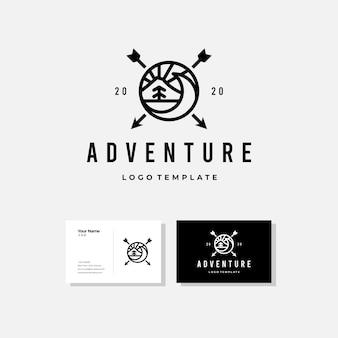 Szablon projektu logo przygody