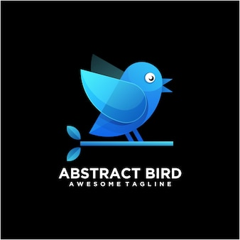 Szablon projektu logo ptak