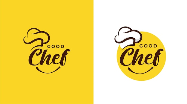 Szablon projektu logo restauracji good chef