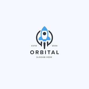 Szablon projektu logo rocket cloud odpowiedni dla biznesu technicznego i internetowego