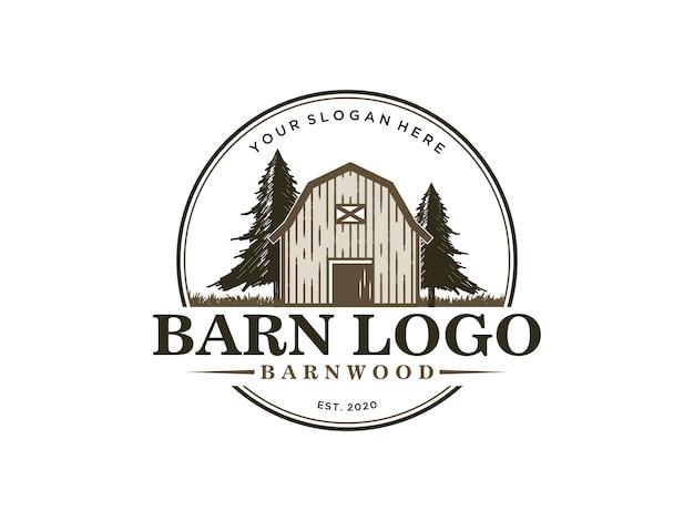 Szablon projektu logo rocznika barnwood