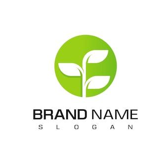 Szablon projektu logo roślin