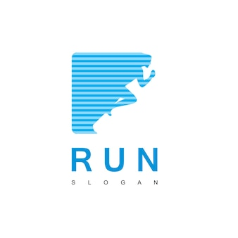 Szablon projektu logo runy ludzi