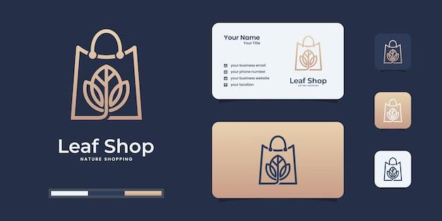Szablon projektu logo sklepu rose, torba połączona z szablonem projektu logo kwiatu.