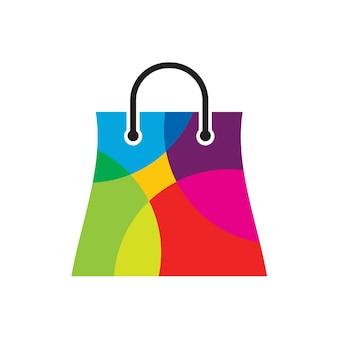Szablon projektu logo sklepu z kolorami