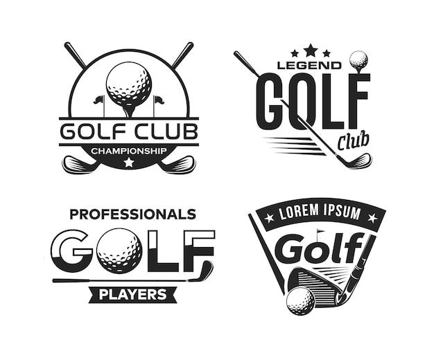 Szablon projektu logo sportu golfowego
