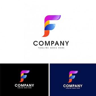 Szablon projektu logo streszczenie list F