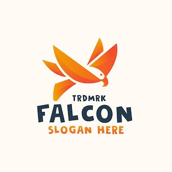 Szablon projektu logo streszczenie ptak