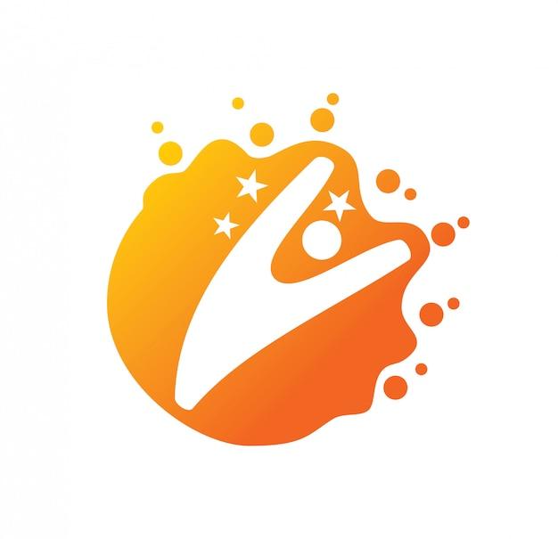 Szablon projektu logo sukcesu gwiazda na białym tle