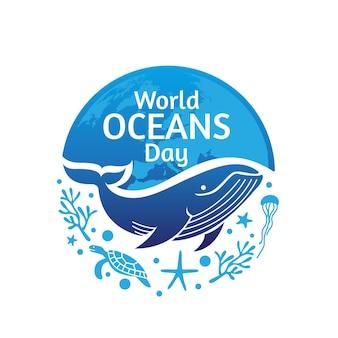 Szablon projektu logo światowego dnia oceanów