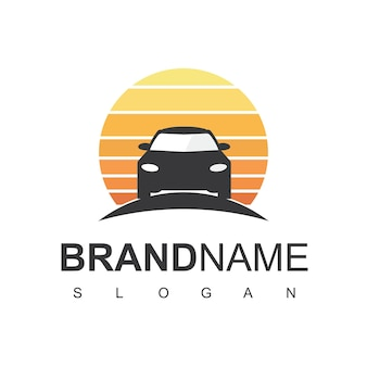 Szablon projektu logo sylwetka samochodu