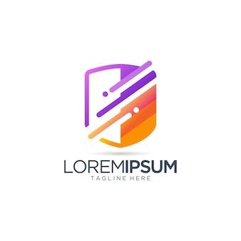 Szablon projektu logo technologii bezpieczeństwa