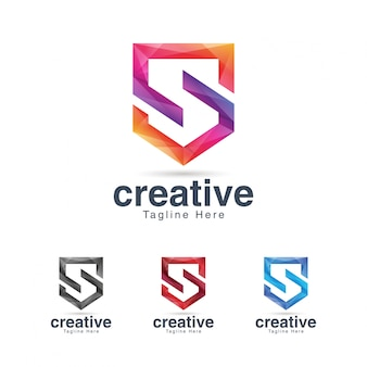 Szablon projektu logo tętniącego życiem kreatywnych litera s.