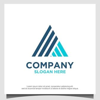 Szablon projektu logo trójkąta lub litery a