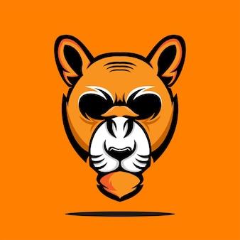 Szablon projektu logo tygrysa