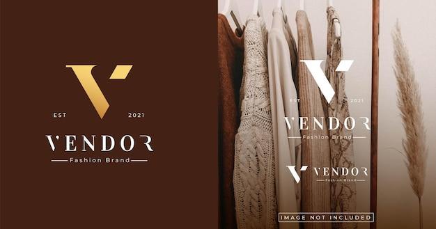Szablon projektu logo w stylu listu luxury monogram