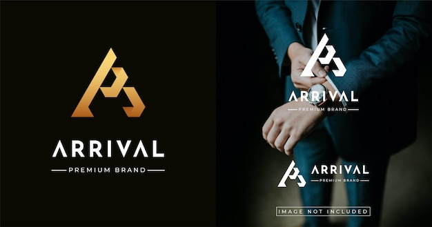 Szablon projektu logo w stylu nowoczesnego luksusu w stylu monogram .
