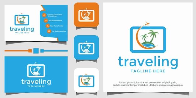 Szablon projektu logo wakacje podróży