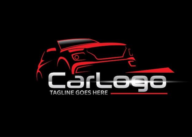 Szablon projektu logo wektor samochodu suv