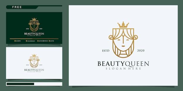 Szablon projektu logo wektor w modnym stylu liniowym