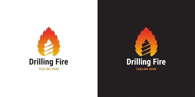 Szablon projektu logo wiercenia ognia