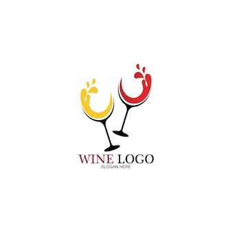 Szablon projektu logo wina. ilustracja wektorowa ikony-wektora