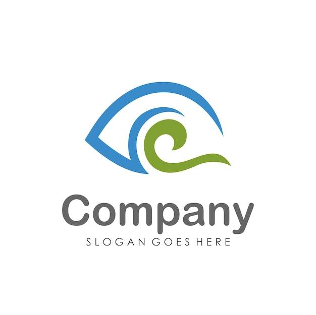 Szablon projektu logo wizji oczu
