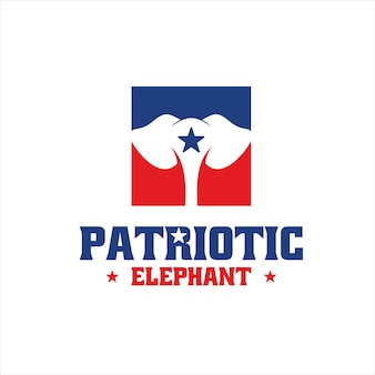 Szablon projektu logo wojskowego patriotycznego słonia