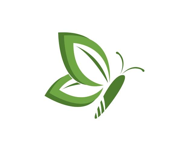 Szablon projektu logo zielony motyl