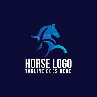 Szablon projektu logo zwierząt koni