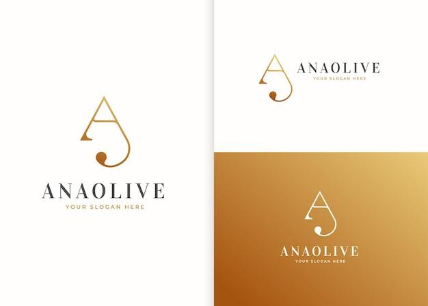 Szablon projektu luksusowego logo litery a