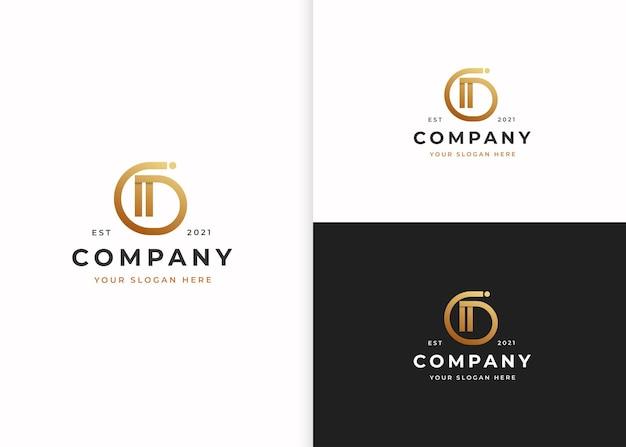 Szablon projektu luksusowego logo litery d