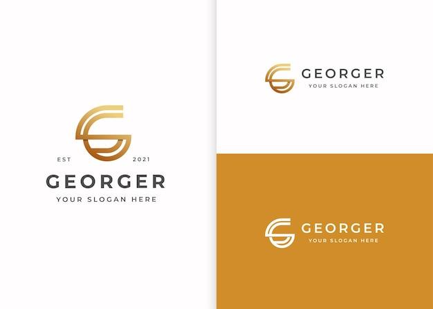 Szablon projektu luksusowego logo litery g